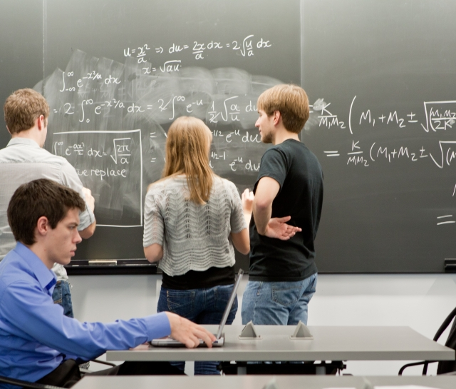 Researchers interacting