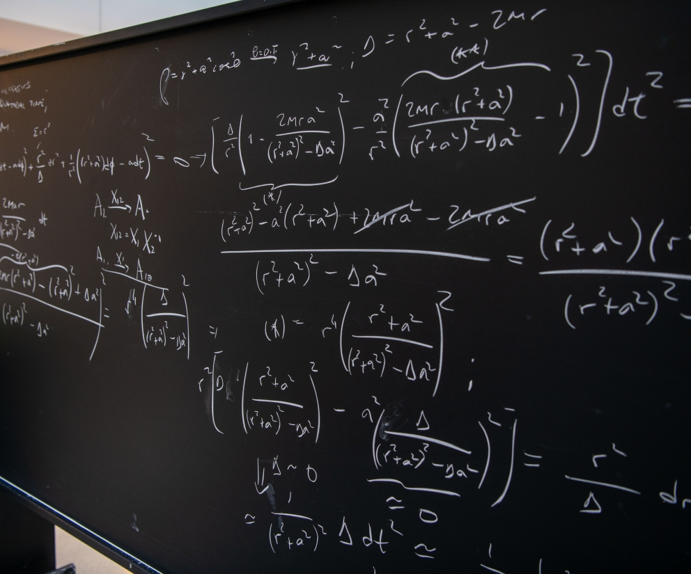 Blackboard of equations