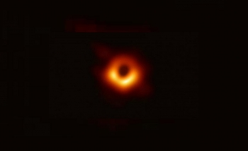 first-ever image of a black hole's event horizon from the EHT collaboration